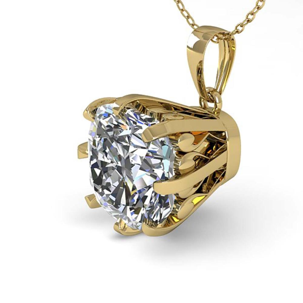1 ctw VS/SI Cushion Diamond Necklace 18K Yellow Gold - REF-297M2F - SKU:35722