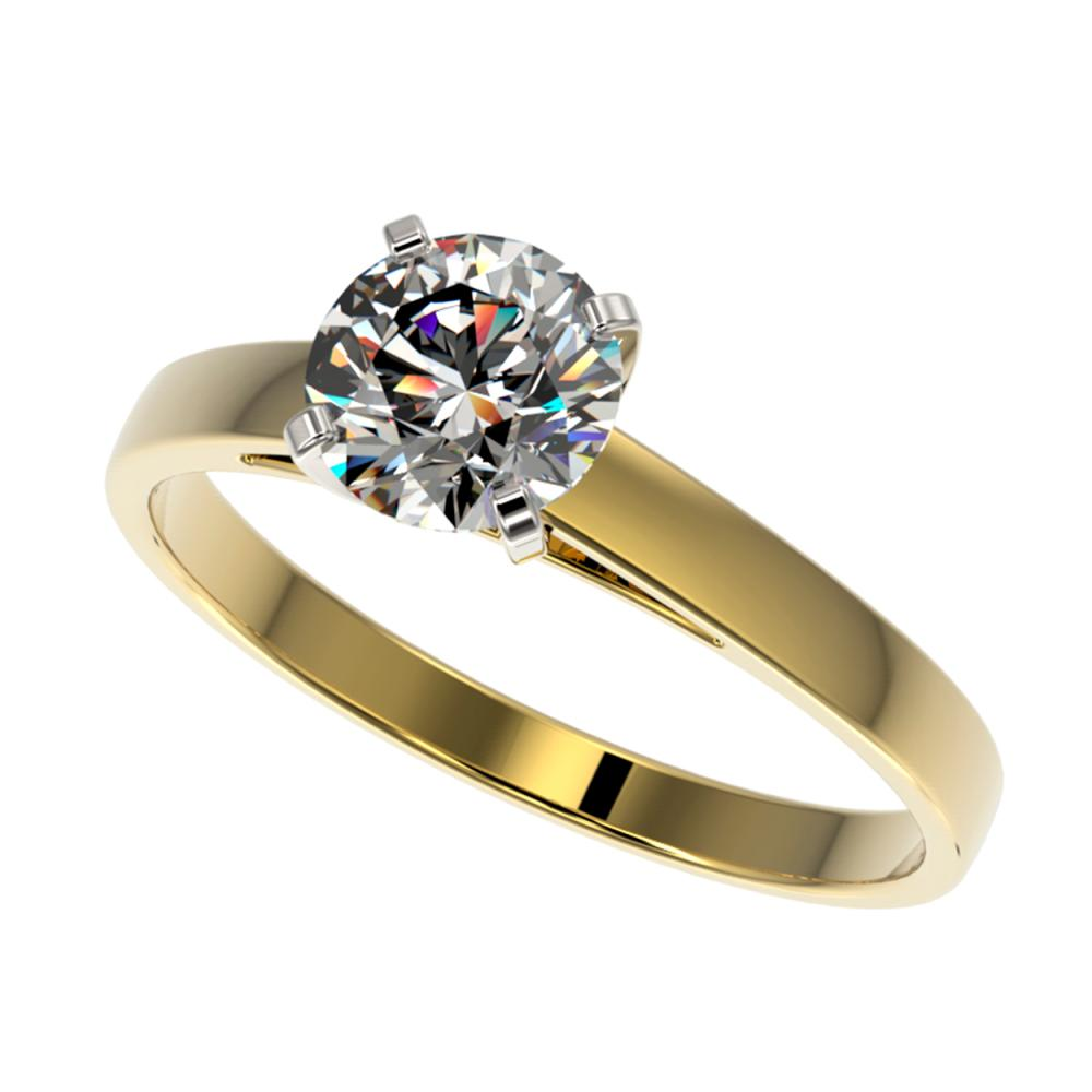 0.97 ctw H-SI/I Diamond Ring 10K Yellow Gold - REF-199X5R - SKU:36497