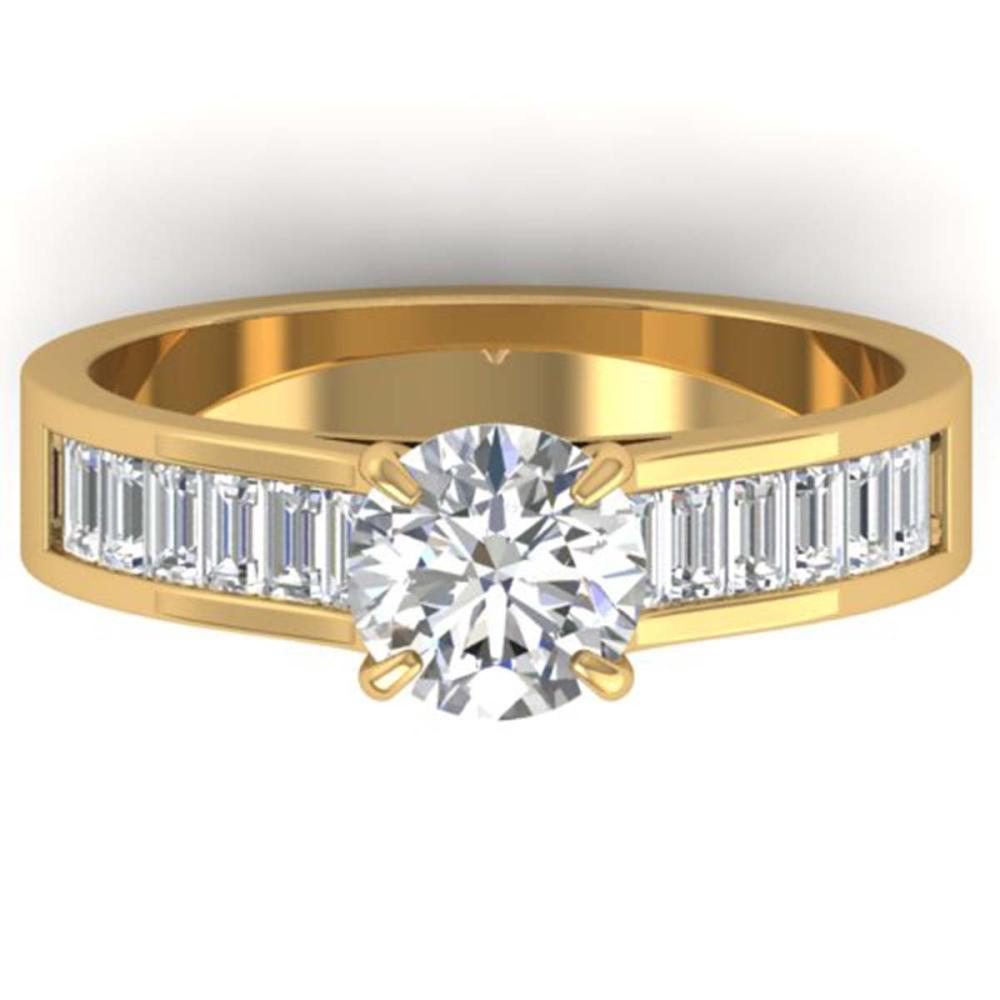 1.75 ctw VS/SI Diamond Art Deco Ring 14K Yellow Gold - REF-369R5K - SKU:30350