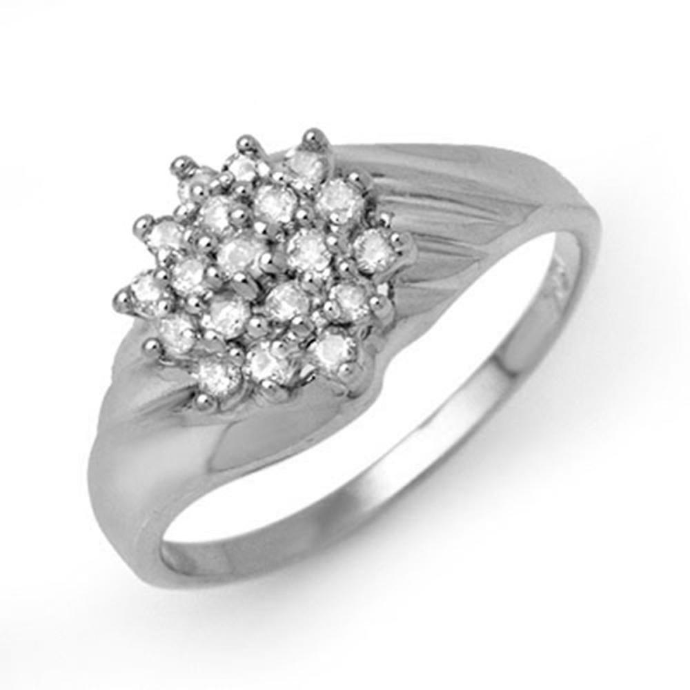 0.25 ctw VS/SI Diamond Ring 18K White Gold - REF-43N3A - SKU:13851