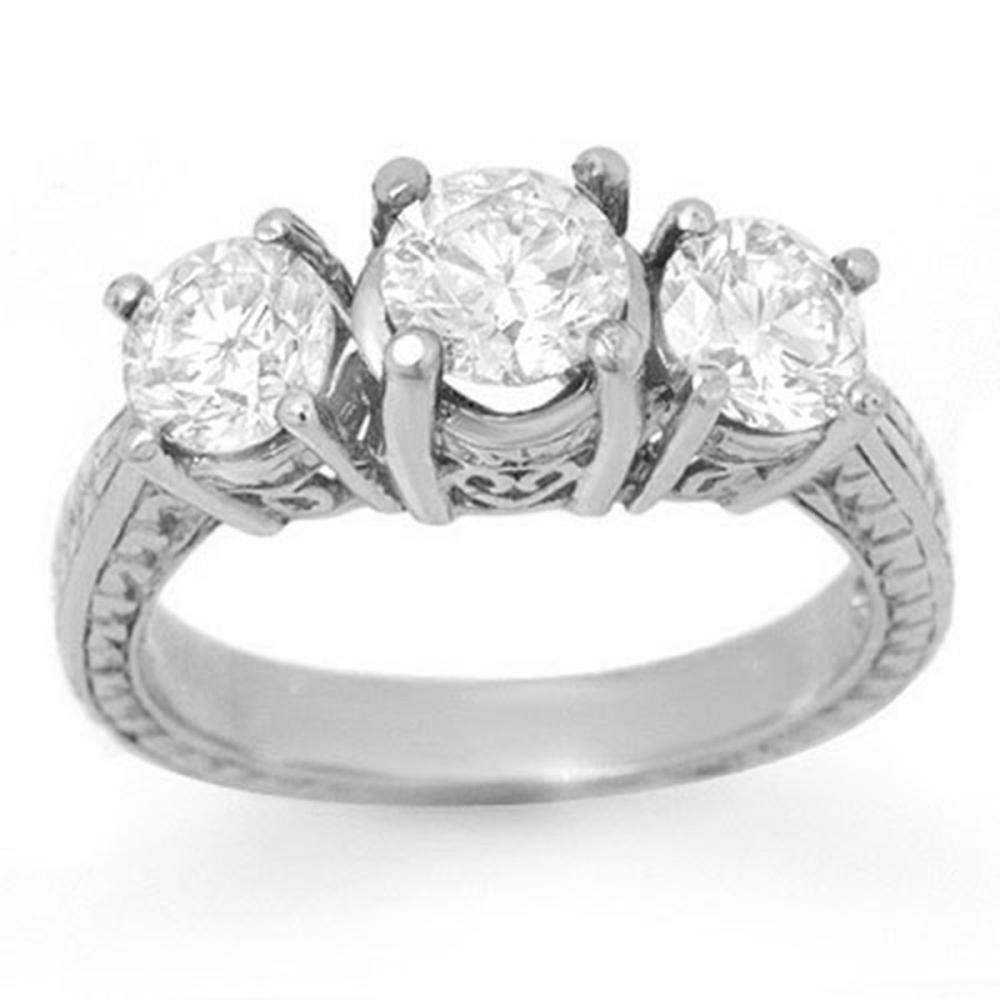 1.50 ctw VS/SI Diamond 3 Stone Ring 18K White Gold - REF-255Y3X - SKU:14309