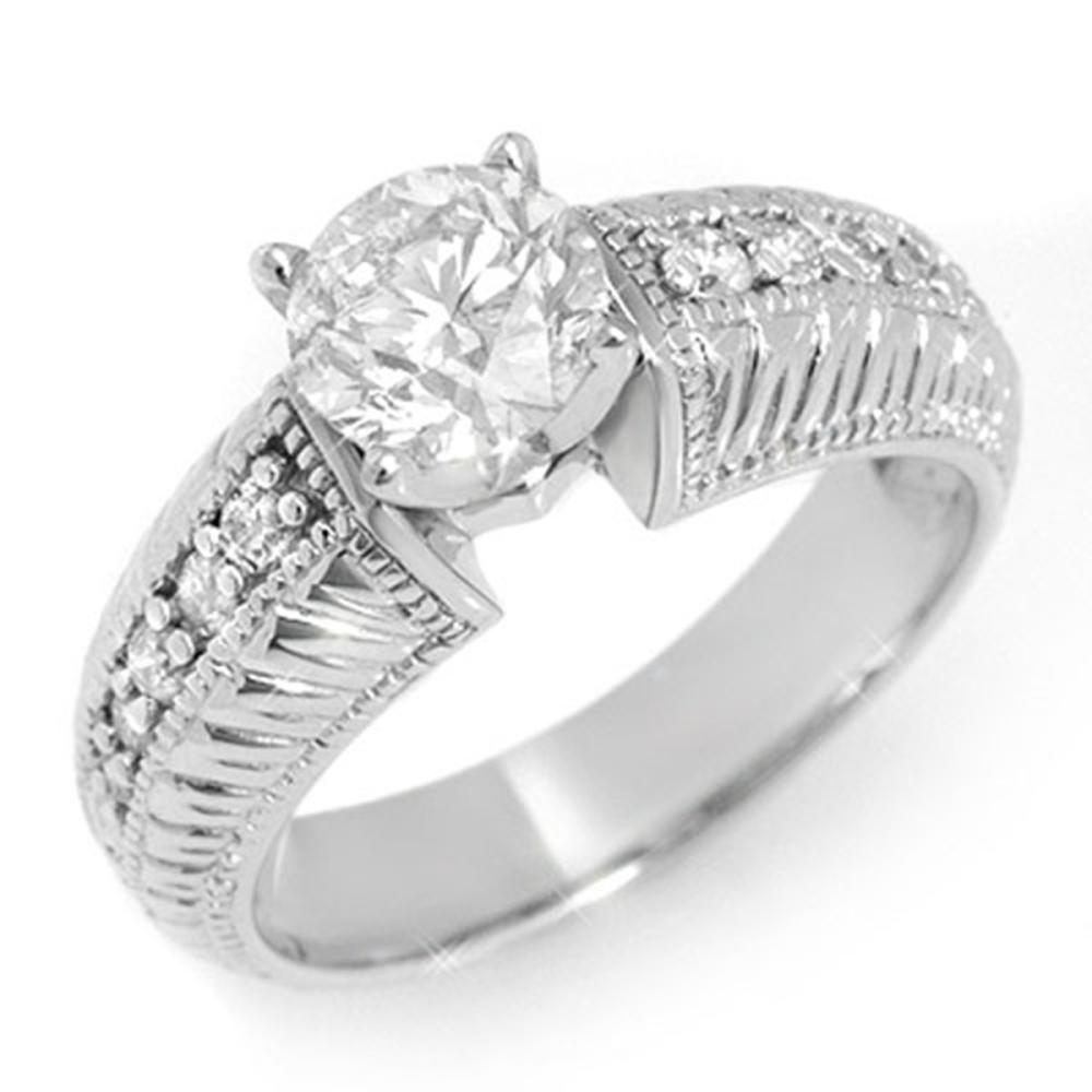 1.26 ctw VS/SI Diamond Ring 14K White Gold - REF-283H5M - SKU:11541