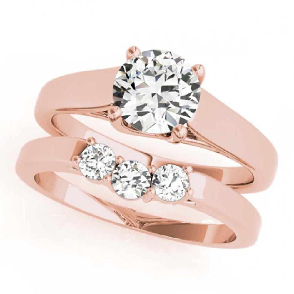 0.6725 ctw VS/SI Diamond 2pc Set Wedding 14K Rose Gold - REF-78F8N - SKU:32106