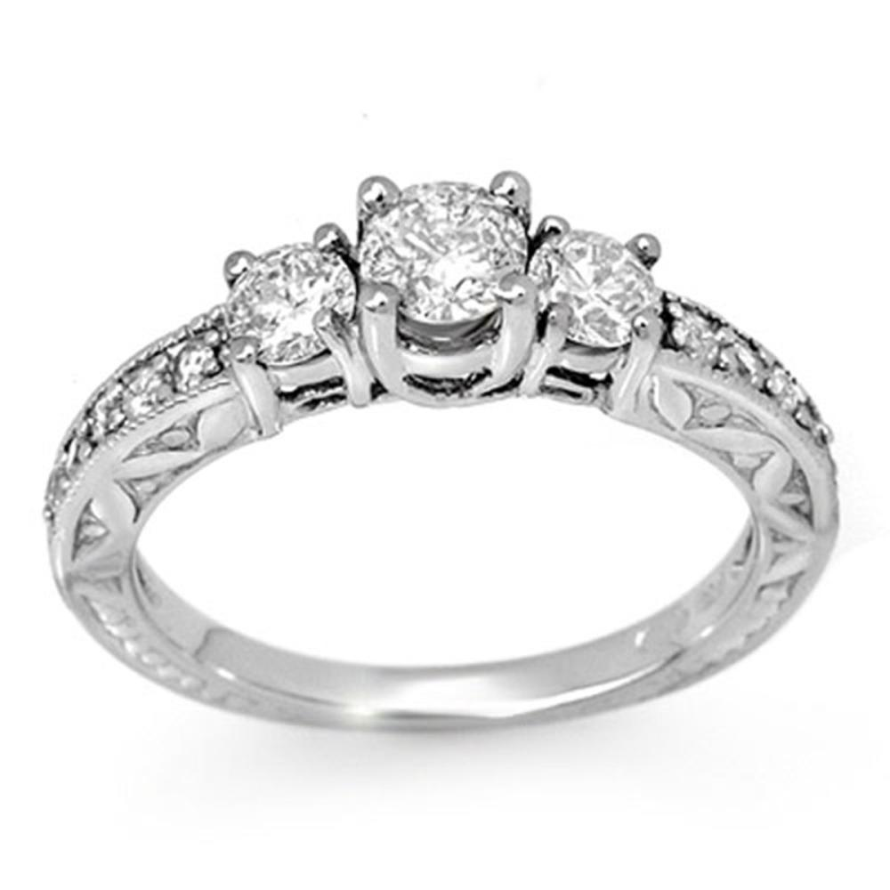 0.95 ctw VS/SI Diamond Ring 10K White Gold - REF-104N5A - SKU:11914