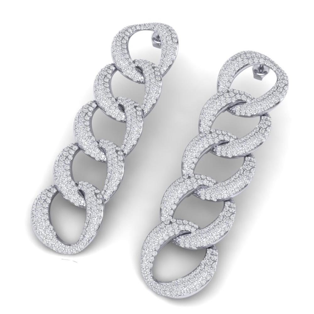 5 ctw VS/SI Diamond Earrings 18K White Gold - REF-375V2Y - SKU:40073