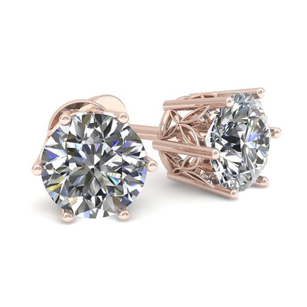 0.50 ctw VS/SI Diamond Stud Earrings 18K Rose Gold - REF-58R5K - SKU:35813