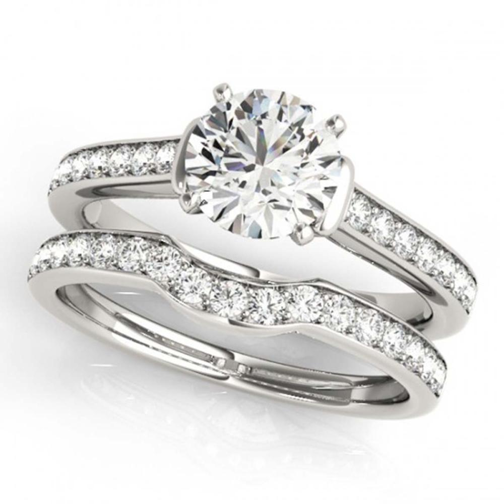 1.83 ctw VS/SI Diamond 2pc Wedding Set 14K White Gold - REF-300A7V - SKU:31640