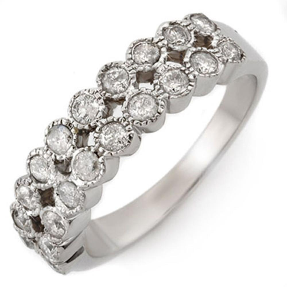 0.75 ctw VS/SI Diamond Ring 14K White Gold - REF-52F7N - SKU:10802
