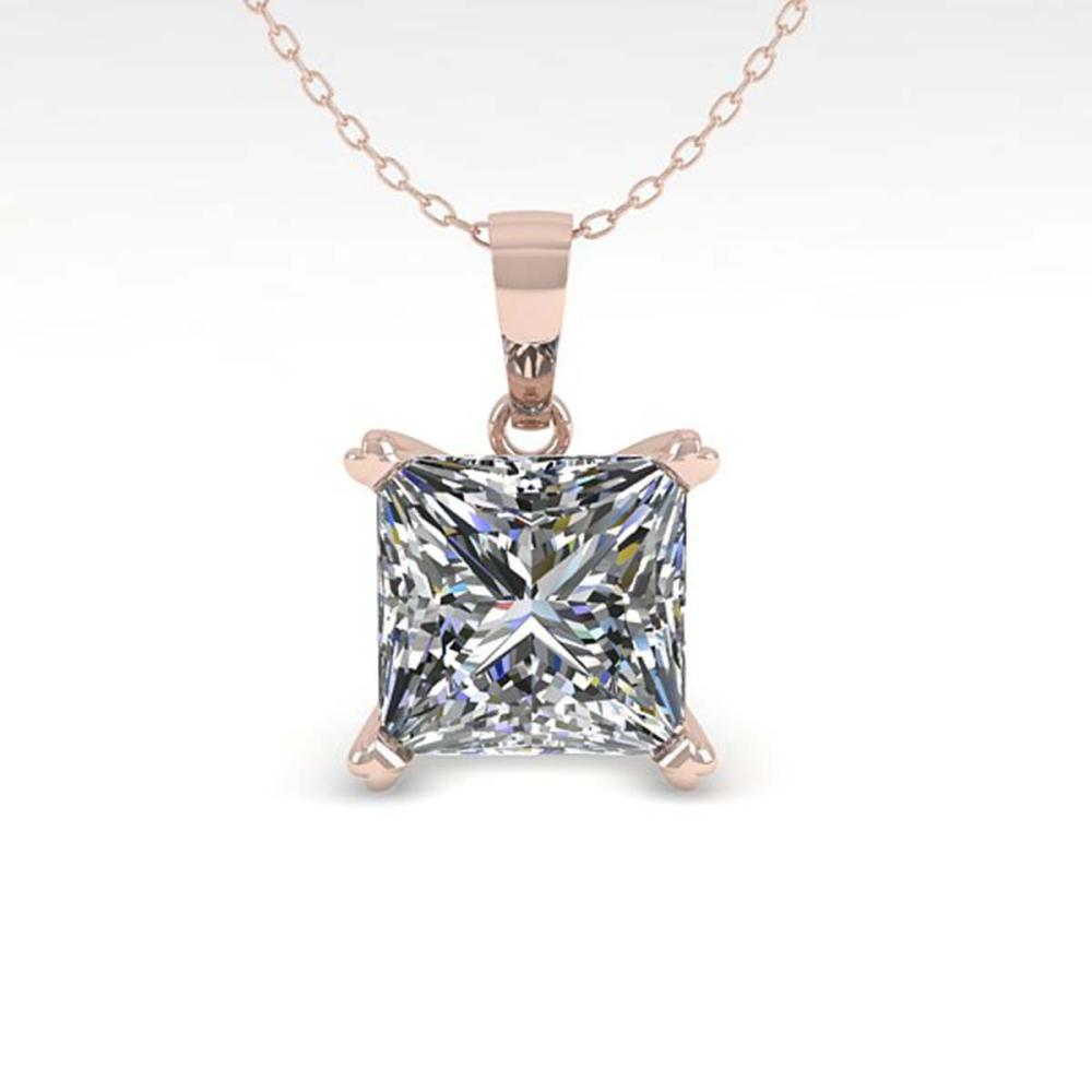 0.50 ctw VS/SI Princess Diamond Necklace 18K White Gold - REF-80Y7X - SKU:32346