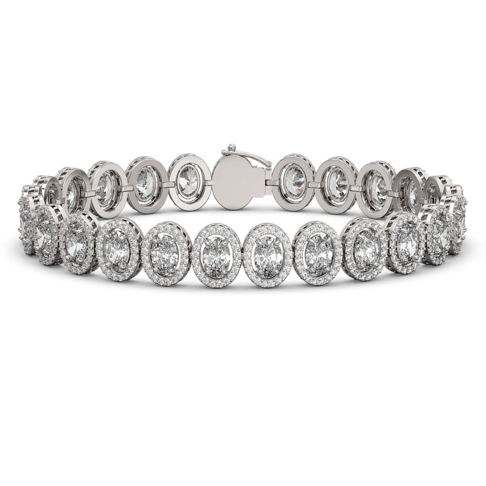 18.8 ctw Oval Diamond Bracelet 18K White Gold - REF-2579N2A - SKU:42815
