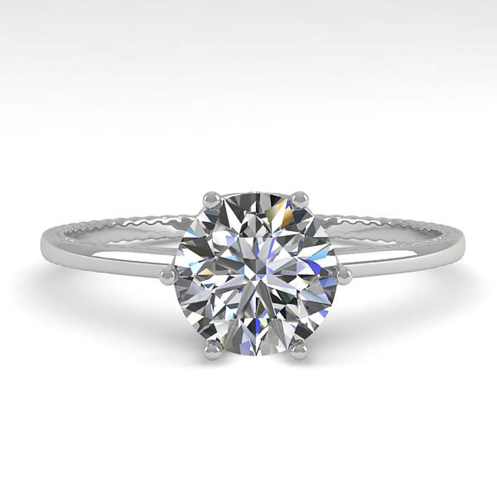 1.01 ctw VS/SI Diamond Ring 18K White Gold - REF-286H3M - SKU:35889