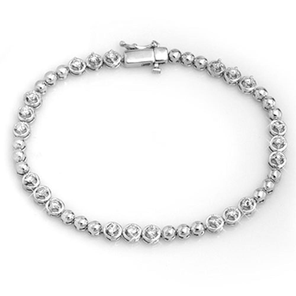 1.25 ctw VS/SI Diamond Bracelet 10K White Gold - REF-107K3W - SKU:11674