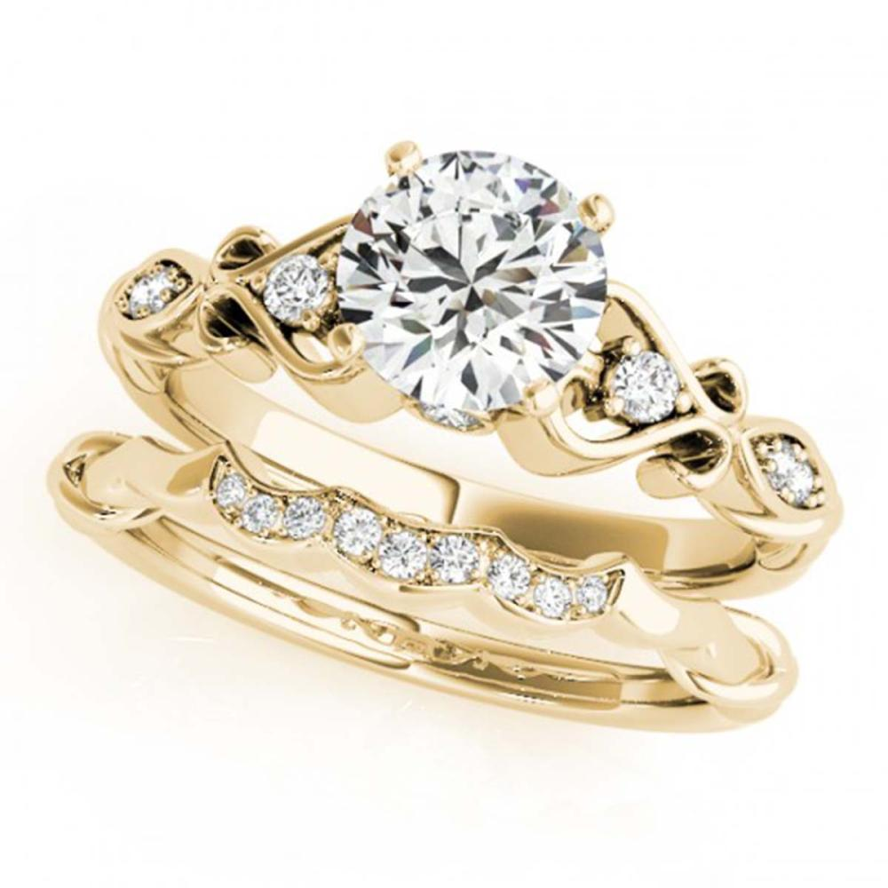 1.22 ctw VS/SI Diamond 2pc Wedding Set 14K Yellow Gold - REF-281W6H - SKU:31573