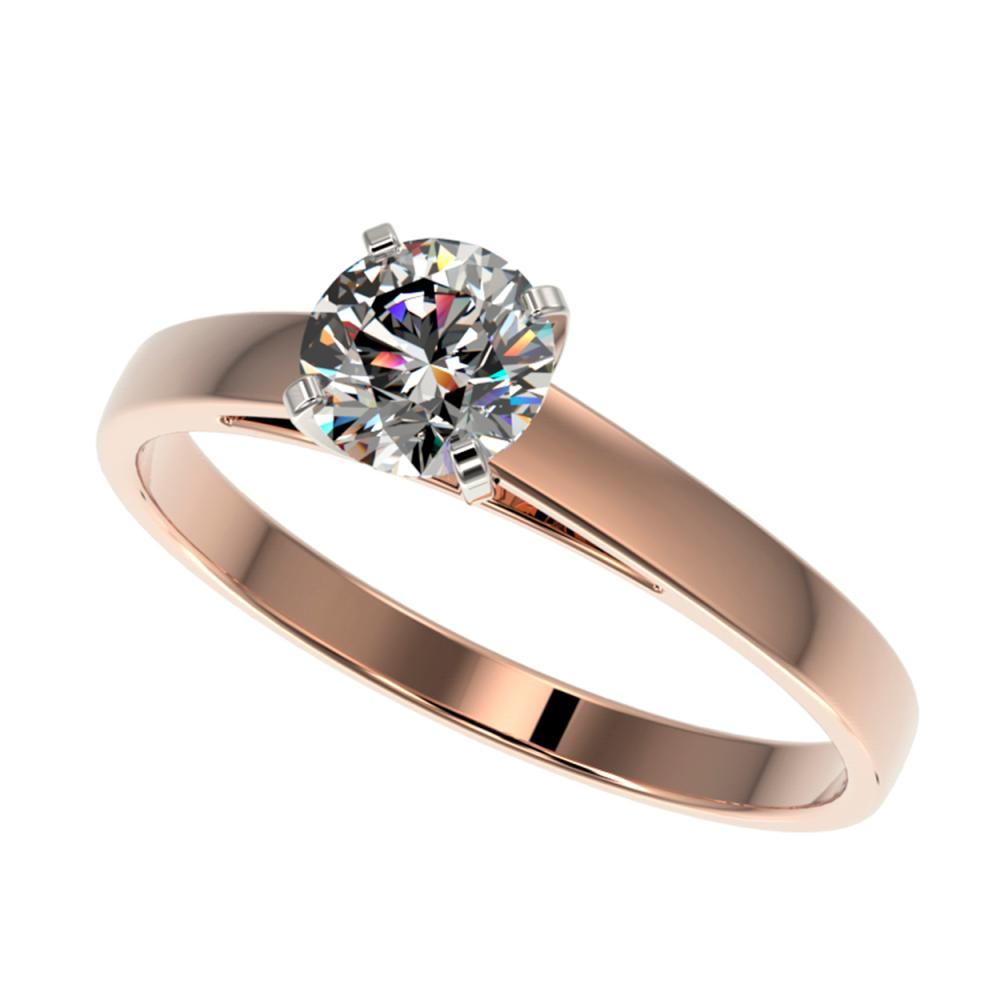 0.77 ctw H-SI/I Diamond Ring 10K Rose Gold - REF-97N5A - SKU:36480