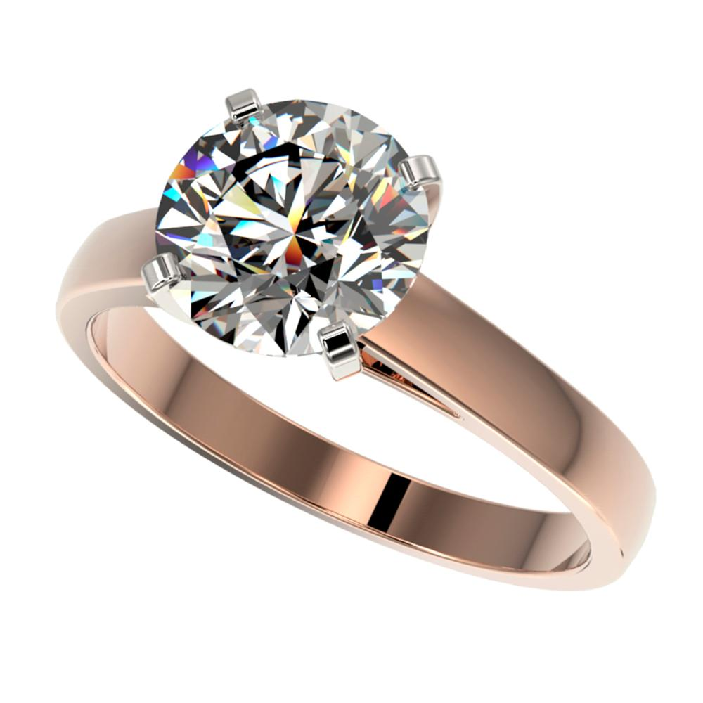 2.55 ctw H-SI/I Diamond Ring 10K Rose Gold - REF-885R2K - SKU:36561