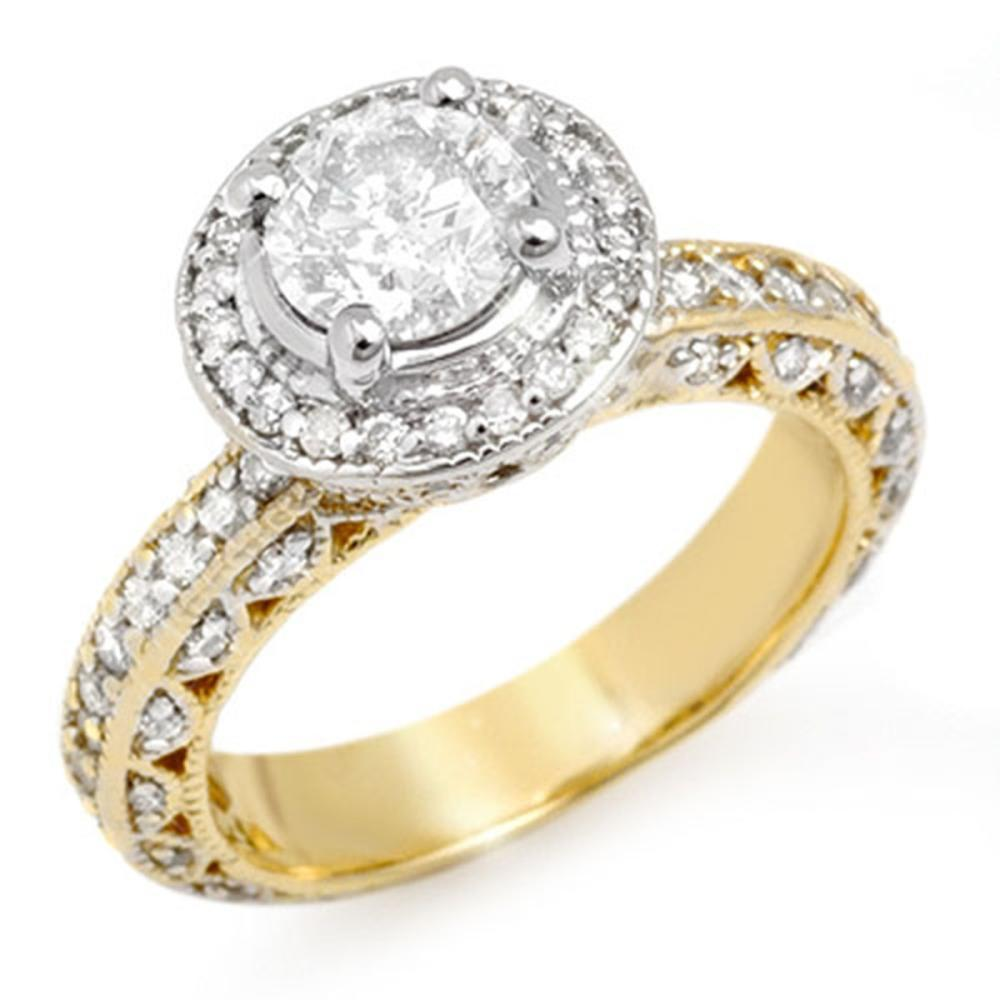 2.0 ctw VS/SI Diamond Ring 14K 2-Tone Gold - REF-396W7H - SKU:11364