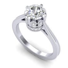 1.5 CTW VS/SI Diamond Bridal Art Deco Ring 18K Gold - 36830-REF-399N3Y
