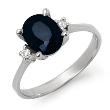 Natural 2.33 ctw Blue Sapphire & Diamond Ring 10K White Gold - 12428-#15Z2P