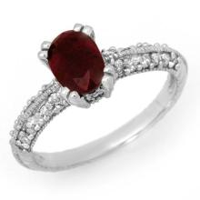 Natural 2.0 ctw Ruby & Diamond Ring 14K White Gold - 13826-#44R7H
