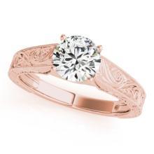1 CTW Certified VS/SI Diamond Solitaire Wedding Ring 18K Rose Gold - REF-297K2R - 27811