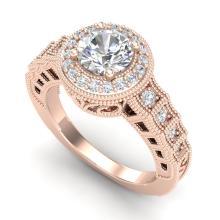 1.53 CTW VS/SI Diamond Solitaire Art Deco Ring 18K Gold - REF-454K5R - 36960