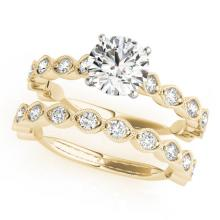 2.02 CTW Certified VS/SI Diamond Solitaire 2Pc Wedding Set 14K Gold - REF-402N7A - 31615