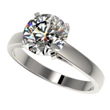 2.55 CTW Certified H-SI/I Quality Diamond Solitaire Engagement Ring Gold - REF-883M6F - 36560