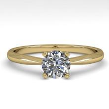 0.54 CTW VS/SI Diamond Engagement Designer Ring 18K Gold - REF-100W7H - 32386