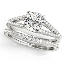 1.88 CTW Certified VS/SI Diamond Solitaire 2Pc Wedding Set 14K Gold - REF-548F9M - 31988