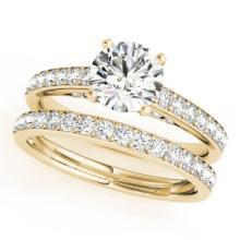 1.91 CTW Certified VS/SI Diamond Solitaire 2Pc Wedding Set 14K Gold - REF-401X5Y - 31609