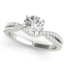 0.8 CTW Certified VS/SI Diamond Solitaire Ring 18K White Gold - REF-131H6W - 27879