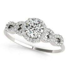 1.33 CTW Certified VS/SI Diamond Solitaire Ring 18K White Gold - REF-367W5H - 27963