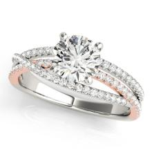 1.15 CTW Certified VS/SI Diamond Solitaire Ring 18K Two Tone Gold - REF-220Y4X - 28161
