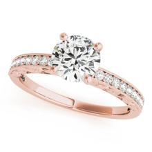 1.18 CTW Certified VS/SI Diamond Solitaire Antique Ring 18K Rose Gold - REF-360R7K - 27250