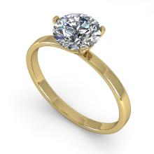 1.0 CTW Certified VS/SI Diamond Engagement Ring 18K Martini Gold - REF-272X3Y - 32227