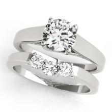 1.27 CTW Certified VS/SI Diamond 2Pc Set Solitaire Wedding 14K Gold - REF-295N4A - 32111
