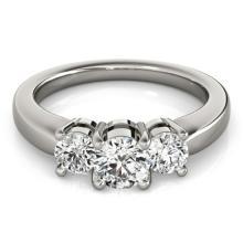 1 CTW Certified VS/SI Diamond 3 Stone Solitaire Ring 18K White Gold - REF-170K2R - 28065