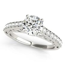1.65 CTW Certified VS/SI Diamond Solitaire Ring 18K White Gold - REF-498Y2X - 27651