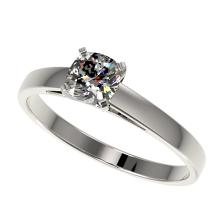 0.50 CTW Certified VS/SI Quality Cushion Cut Diamond Solitaire Ring Gold - REF-77H6W - 32968
