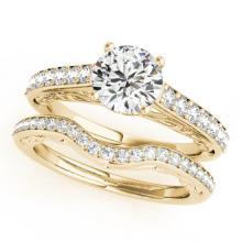 1.36 CTW Certified VS/SI Diamond Solitaire 2Pc Wedding Set 14K Gold - REF-214X9Y - 31759