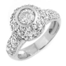 2.20 CTW Certified VS/SI Diamond Ring 18K White Gold - REF-195N3A - 13361