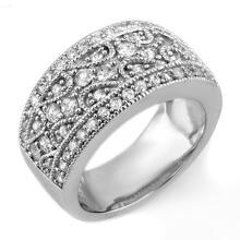 1.50 CTW Certified VS/SI Diamond Ring 18K White Gold - REF-154F2M - 11152
