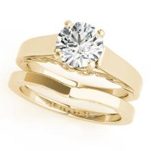 1.25 CTW Certified VS/SI Diamond Solitaire 2Pc Wedding Set 14K Gold - REF-485A5N - 31864