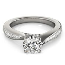 1.11 CTW Certified VS/SI Diamond Solitaire Ring 18K White Gold - REF-211A8N - 27564