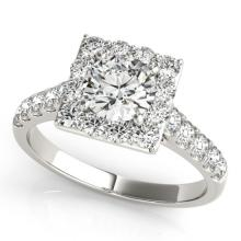2.5 CTW Certified VS/SI Diamond Solitaire Halo Ring 18K White Gold - REF-635W3H - 26835