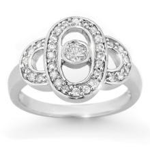 0.55 CTW Certified VS/SI Diamond Ring 10K White Gold - REF-53N8A - 14454