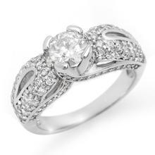 1.90 CTW Certified VS/SI Diamond Ring 14K White Gold - REF-248N2A - 11613