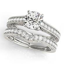 2.17 CTW Certified VS/SI Diamond Solitaire 2Pc Wedding Set 14K Gold - REF-560A3N - 31673