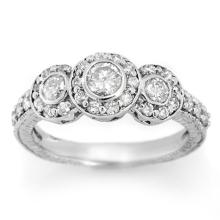 1.25 CTW Certified VS/SI Diamond Ring 18K White Gold - REF-117N6A - 11639