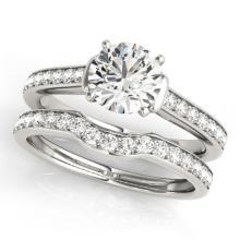 1.83 CTW Certified VS/SI Diamond Solitaire 2Pc Wedding Set 14K Gold - REF-400X9Y - 31640
